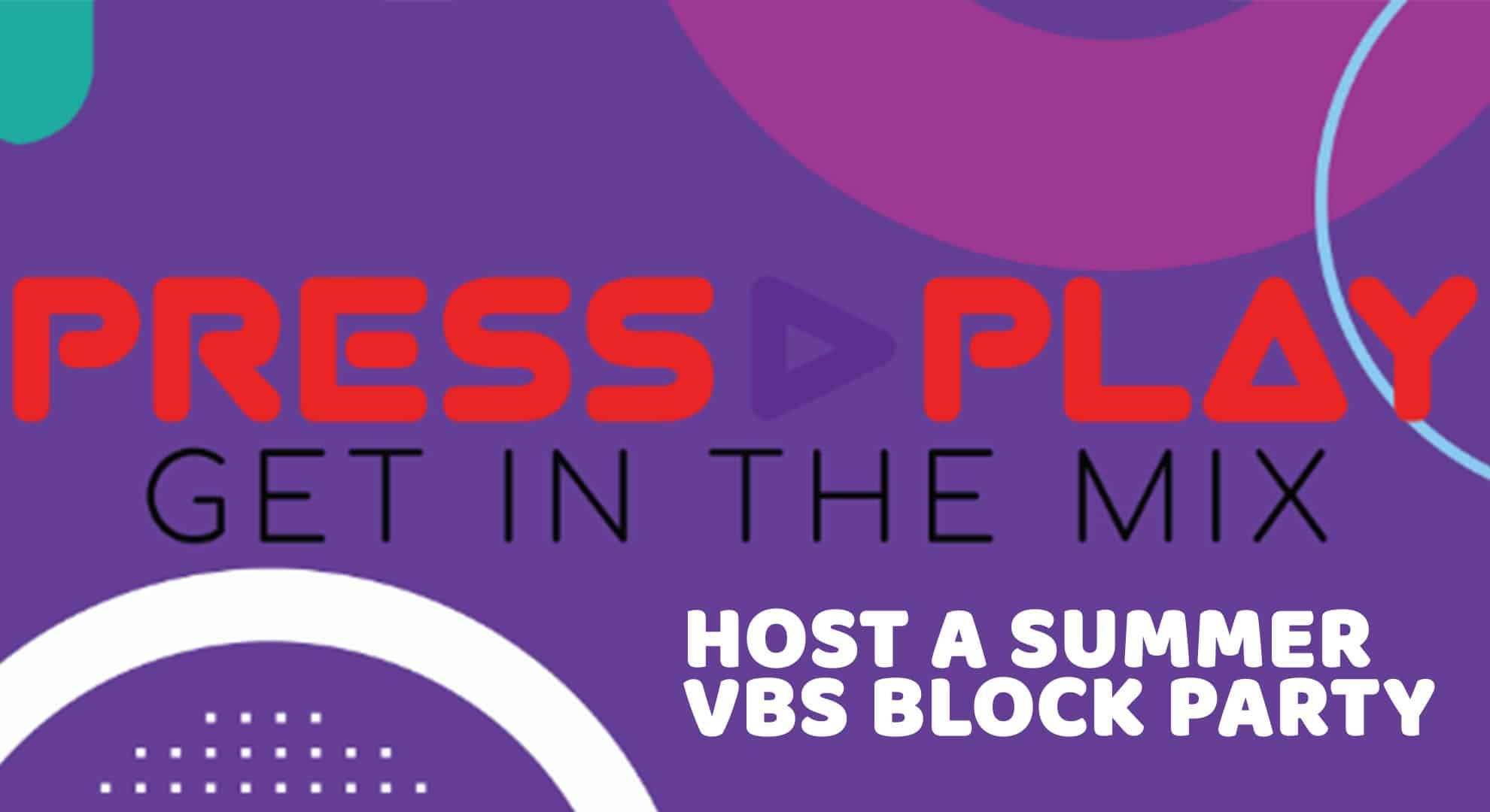 Promotional Graphic for Schweitzer Kids' VBS Block Parties