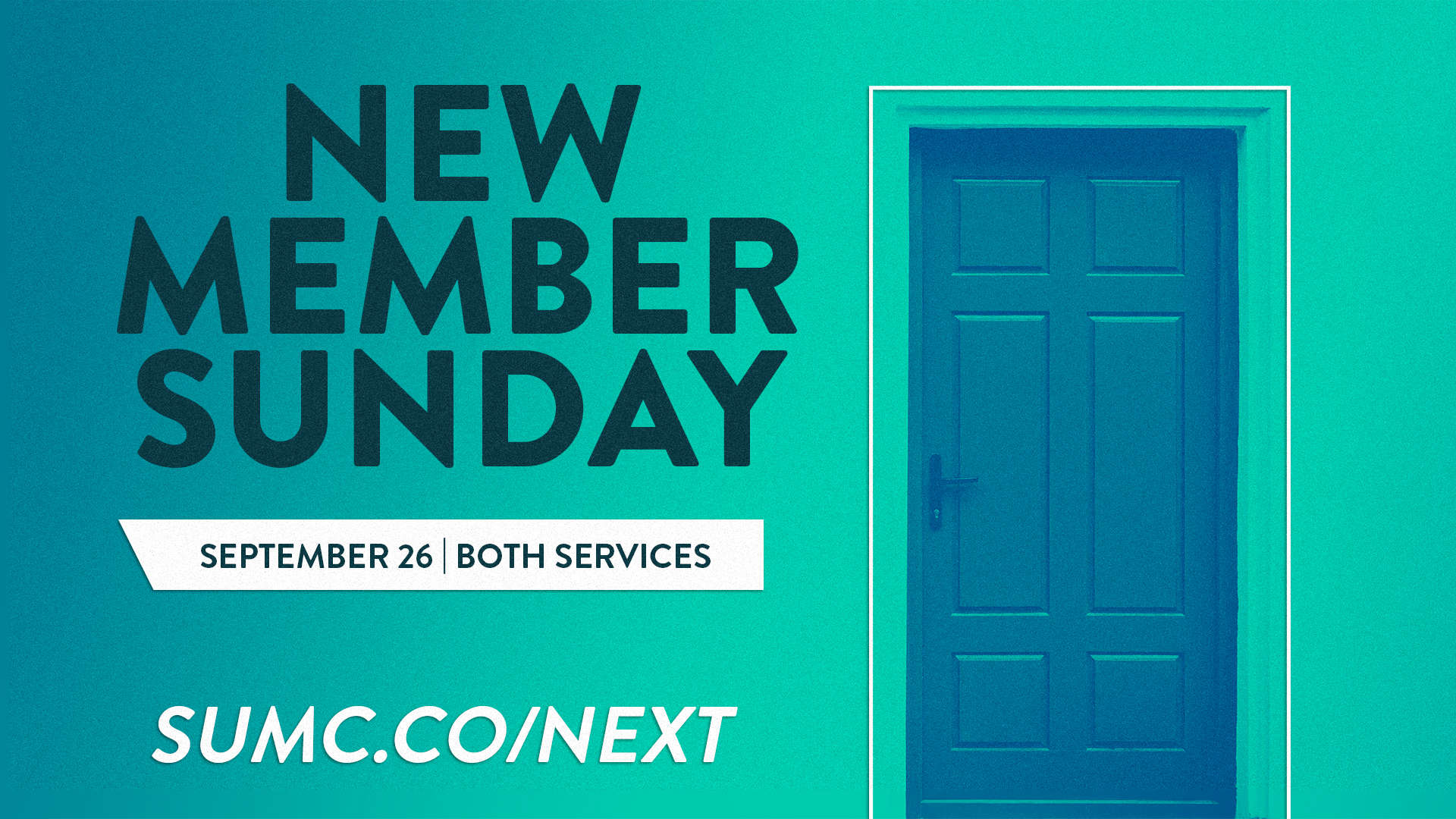 Promotional Graphic for New Member Sunday